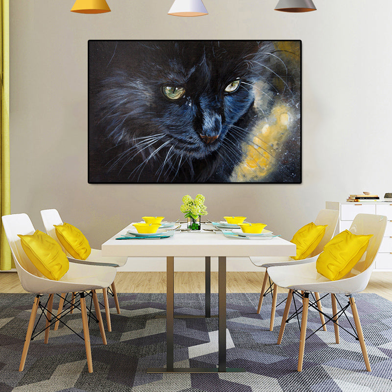 Snow-Leopard-Cat-Animals-Art-Canvas-Oil-Painting-Print-Wall-Poster
