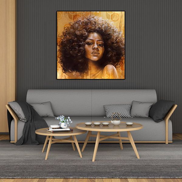 Modern-Art-Of-Black-African-Woman-Canvas-Paintings-for-Wall-Decoration