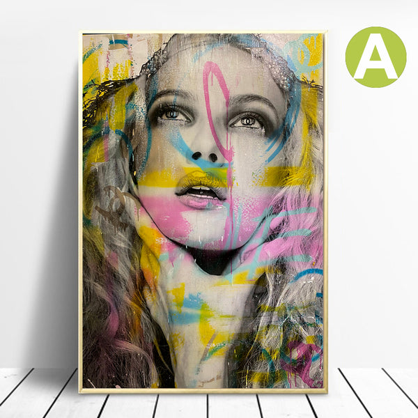 Nordic-Women-Portrait-Wall-Art-Poster-Digital-Printing-On-Canvas