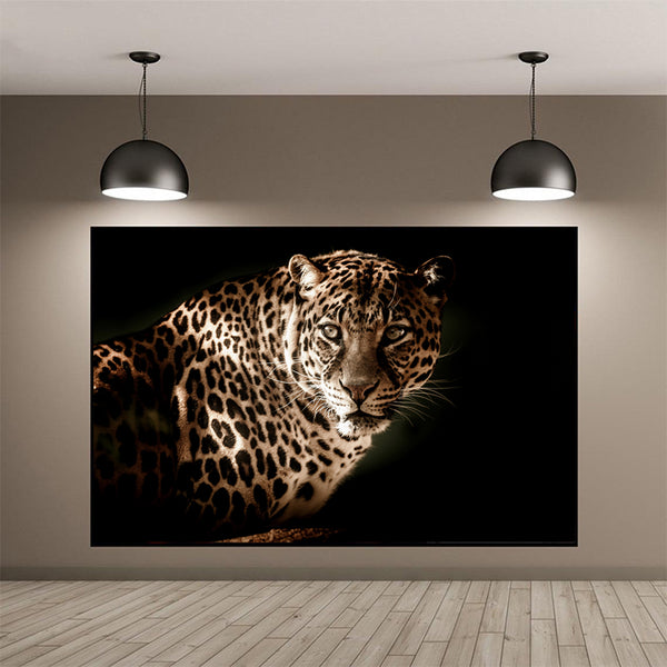 Lion-Roaring-Jaguar-Hunting-Wildlife-Animal-Wall-Art-Print-on-Canvas