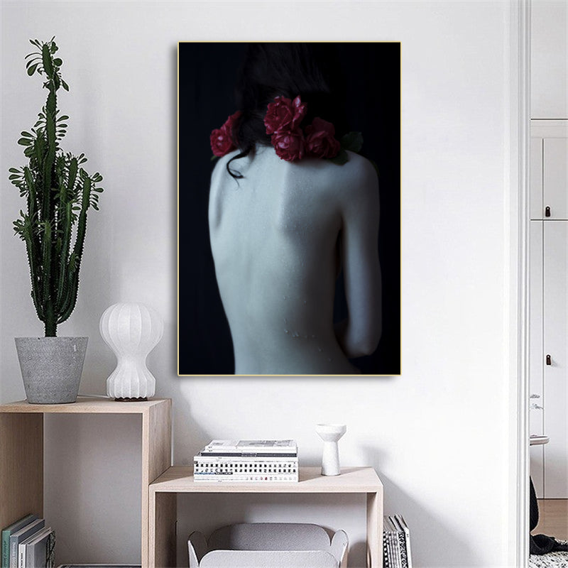 Modern-Half-Nude-Women-Naked-Back-Wall-Art-Posters-Canvas-Printing