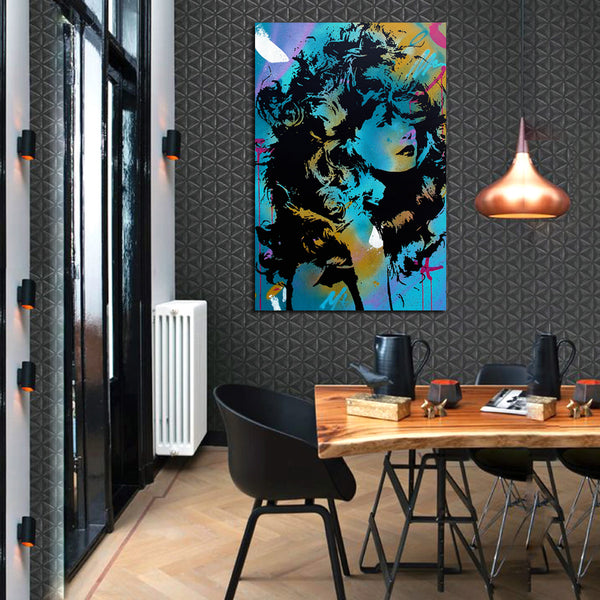 Déesse-Portrait-Woman-Graffiti-Art-Canvas-Digital-Printing-Wall-Poster