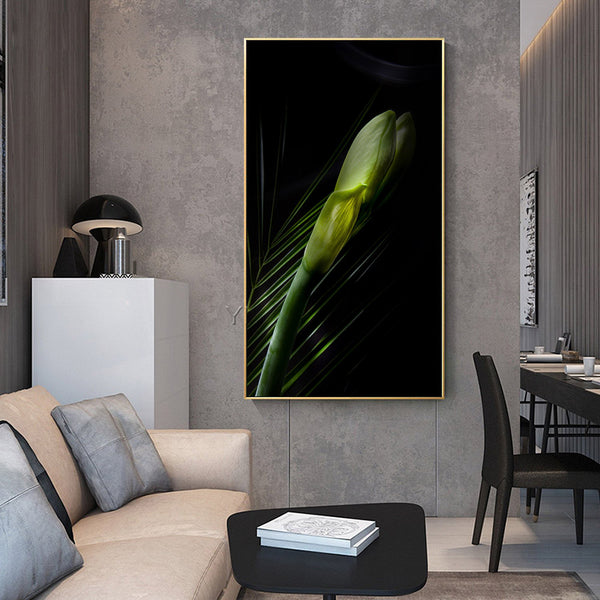 Green-Leaf-Canvas-Painting -Wall-Art-Picture-Poster-Modern-Home-Decor