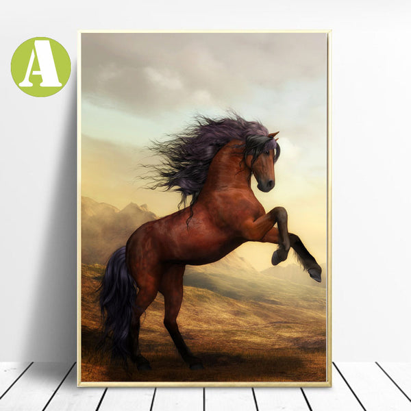 War Horse Wildlife Wall Art Poster