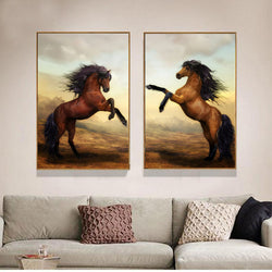 Horse-Canvas-Painting-Animal-Wall-Artwork-Wildlife-Poster-Home-Decor