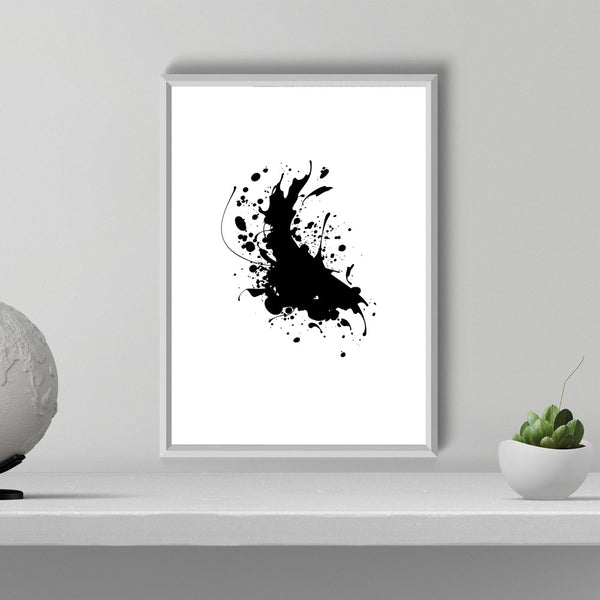 Splashing Ink Modern Minimalist Decor