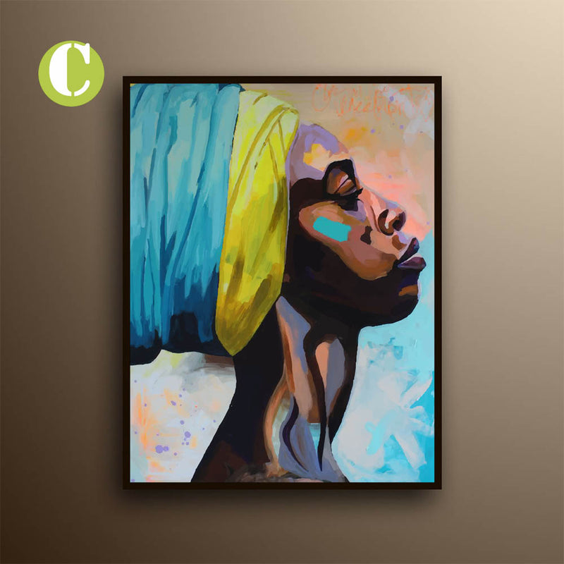 Graffiti Canvas Print, African Woman