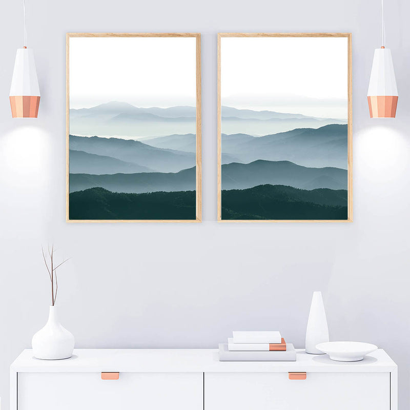 Smoky Mountain Canvas, mountain wall art, canvas Painting, Home Decor