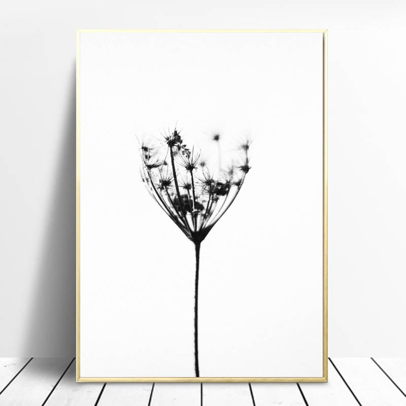 Dandelion Wall Art Canvas, Pink Landscape, Bedroom Wall Decor