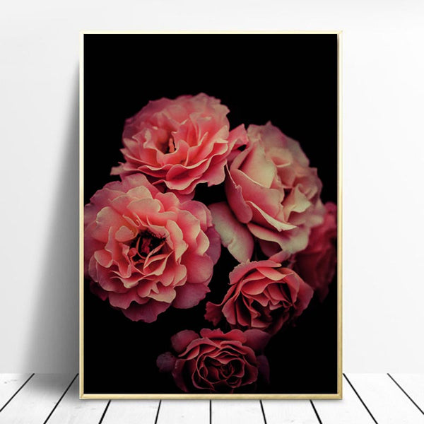 Pink Rose, Flowers Canvas Painting, Valentine's Gift, Wall Art Poster