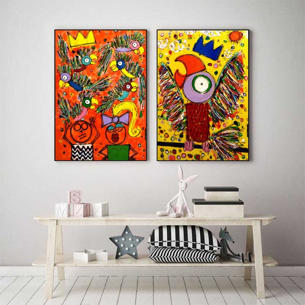 Abstract Bird Graffiti Painting Print