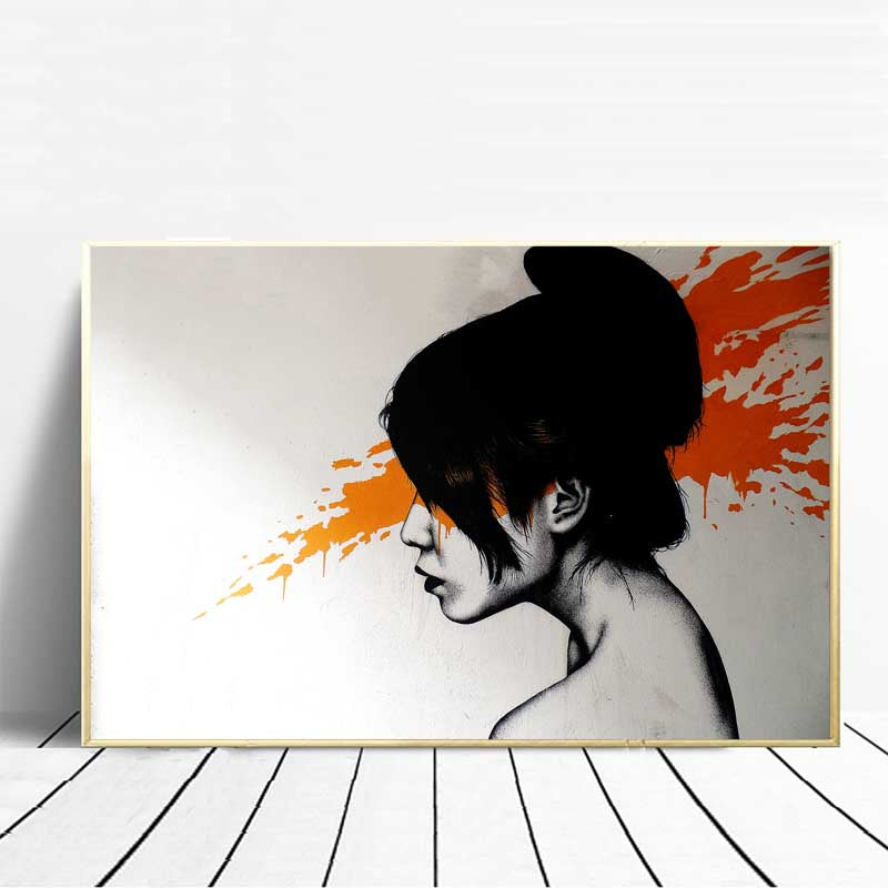 Abstract-Artwork-Graffiti-Street-Scene-painting-D-*-Face-Wall-Art-Poster