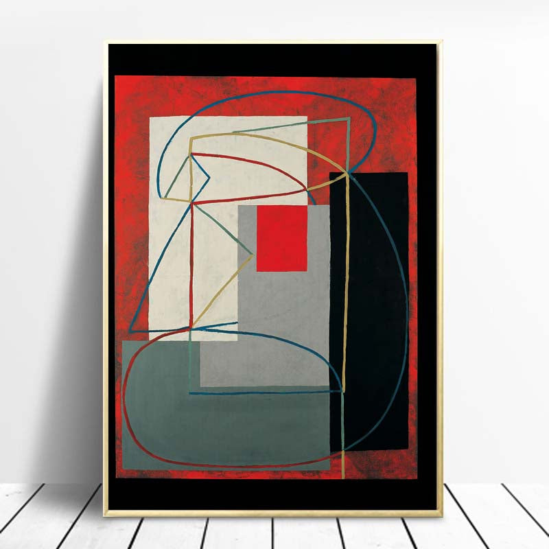 Woman-Abstract-artwork-Black-Red-Painting-by-Artist-Wall-Art-Poster