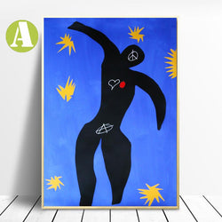 Graffiti-Urban-Art-Posters-Deep-Blue-Sky-Bold-Color-Art-Canvas-Prints
