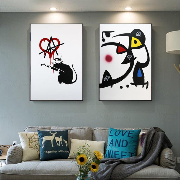 Graffiti-Art-Love-Rat-By-Banksy-best-graffiti-artists-Wall-Art-Poster