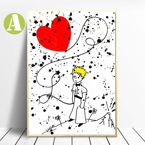 Graffiti-Canvas-Prints-Red-Balloon-Heart-Painting-by-Allizzi-Artist