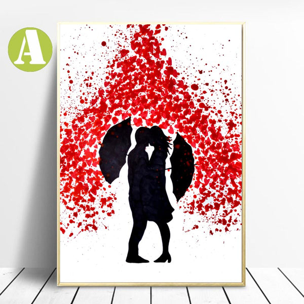 Best-Canvas-Wall-Art-Prints-Love-Rain-Art-Prints-by-Allizzi-Artist