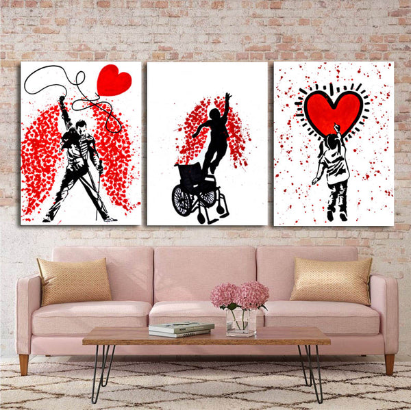 Graffiti-Art-Prints-Abstract-Love-ballon-Pop-Art-Canvas-Wall-Poster