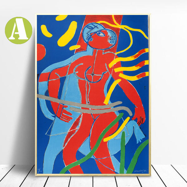 Canvas-Wall-Art-Poster-Abstract-Print-Naked-Women-by-Artist-Corneille