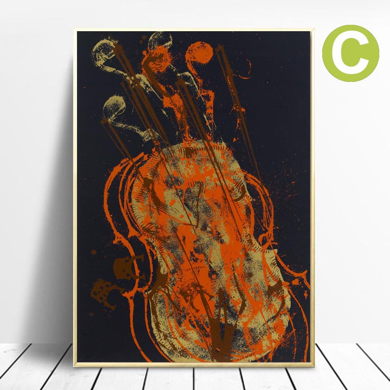 Wall-Art-Poster-Romantic-Melody-for-Strings-Art-prints-by-Artist-Arman