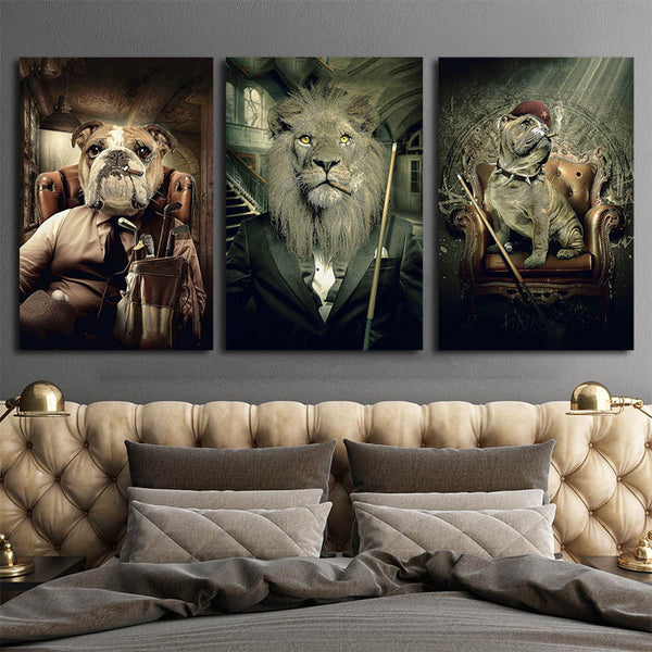 Canvas-Prints-Cheap-Che-Guevara-and-Mafia-lion-Wall-Art-Poster