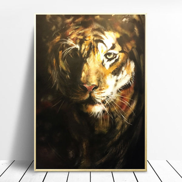 Graffiti-Canvas-painting-Wall-Art-Print-Poster-A-Picture-of-A-Tiger-Art