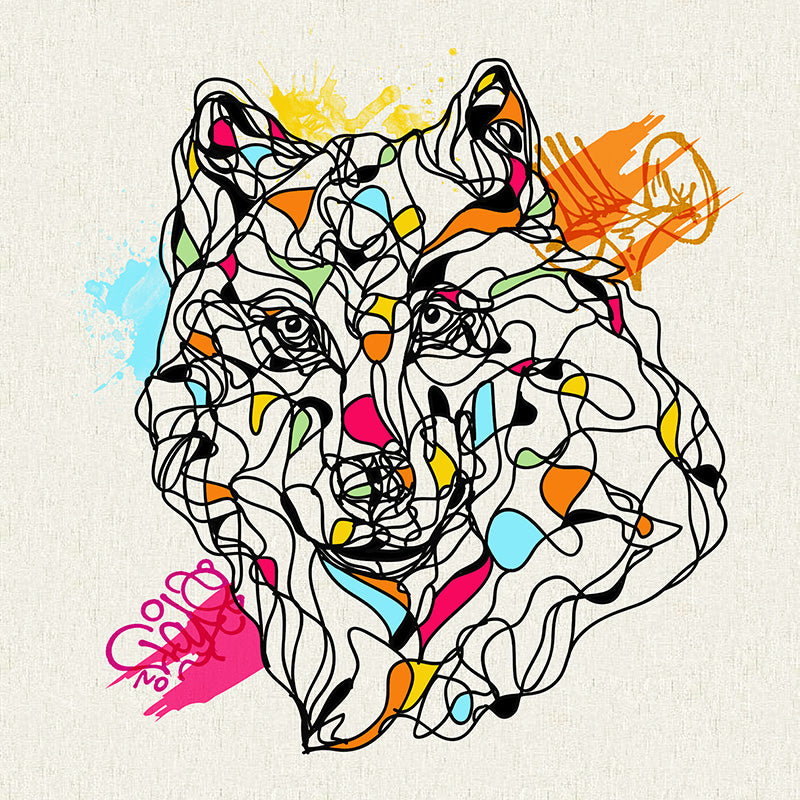 Abstract Wolf Art Prints