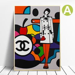 Abstract-Art-prints-on-Canvas-Miss-Coco-&-Chanel-By-Virginia-Benedicto