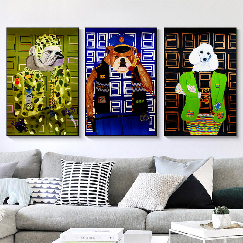 Police-Dog-Canvas-Wall-Art-Print-Poster-for-Kids-Room-Decoration