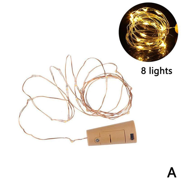 LED Bottle Cork Lights String Lights Copper Wire