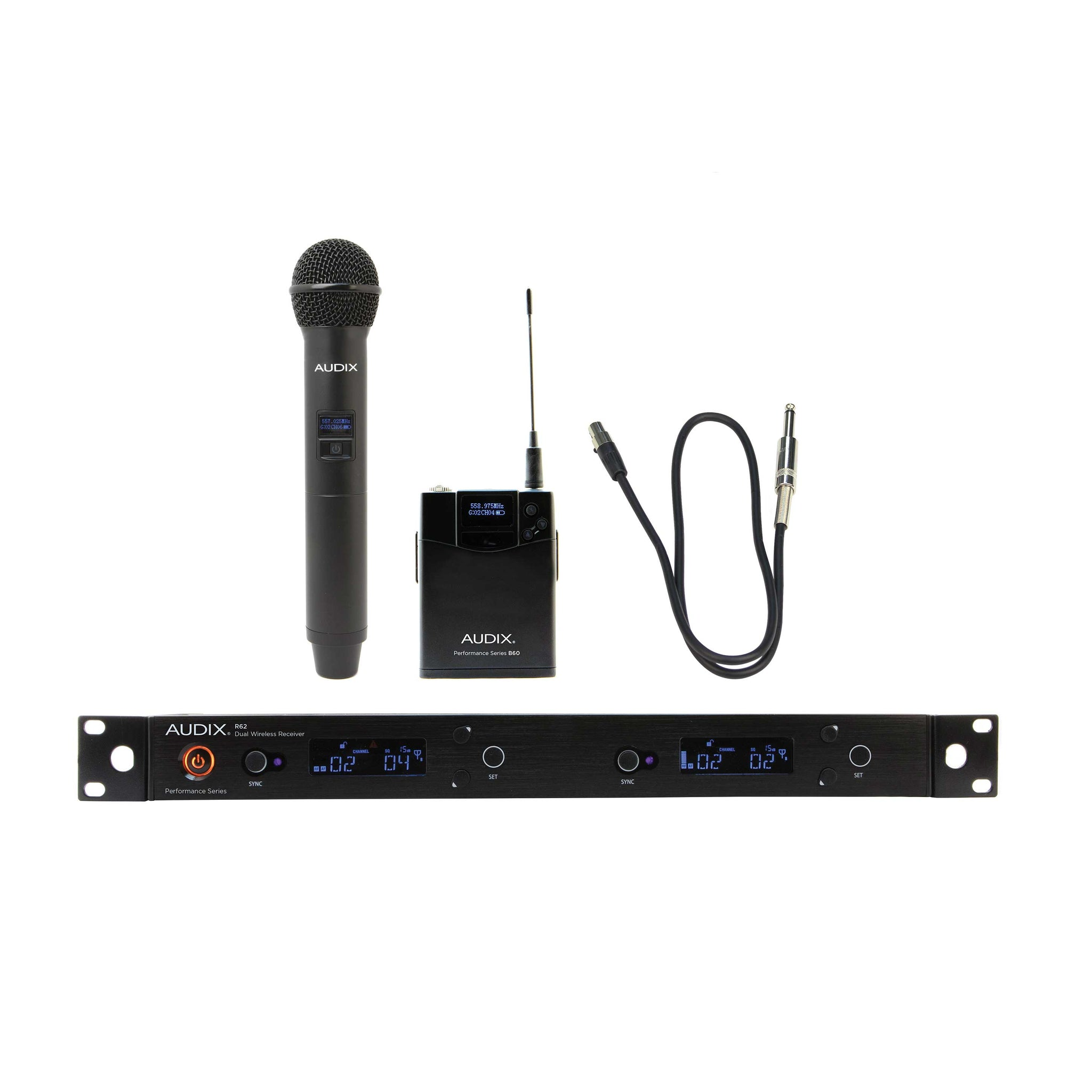Audix AP62 C2GTR Handheld and Guitar Wireless System