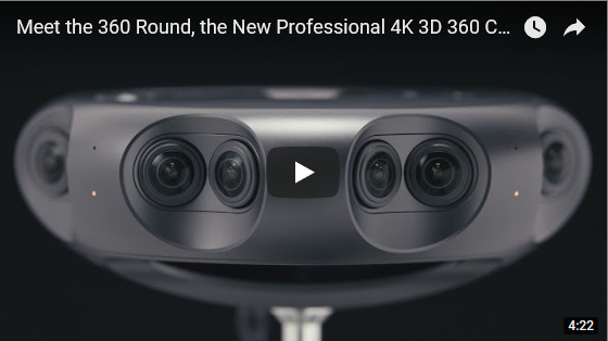 New 360 Round 4K 3D 360 Camera from Samsung