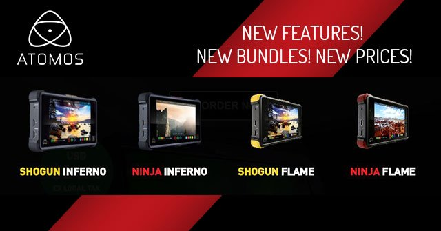Atomos New Features! New Bundles! New Prices!