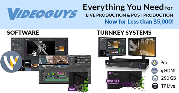 Everything You Need for Live Production & Post Production Now for Less than $5,000!