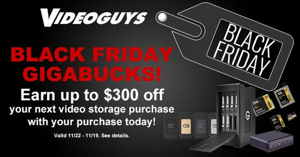 Black Friday Special! Earn GIGABUCKS for Up to $300 Off Your Next Storage Purchase