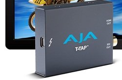 AJA announces T-TAP, the US$249 palm-sized, self-powered bridge from Thunderbolt to HDMI or SDI