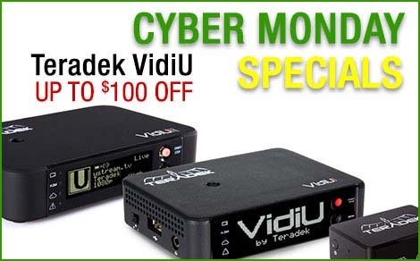 Teradek VidiU Cyber Monday Special up to $100 Off