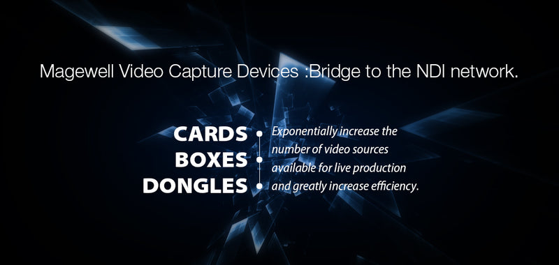 Magewell Capture Devices Work with Newtek NDI