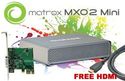 "Matrox MXO2 Mini is  the only ""Triple-A"" rated I/O hardware on the market"