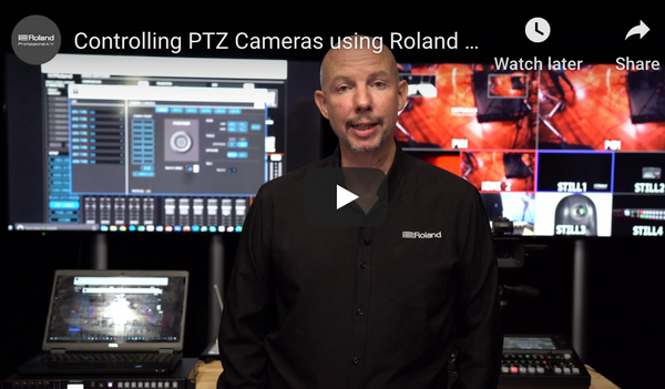 Roland Mixer now with Integrated PTZ Camera Control