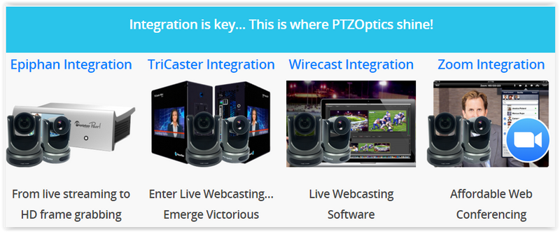 Learn how to integrate PTZOPtics Robotic PTZ cameras into your live productions
