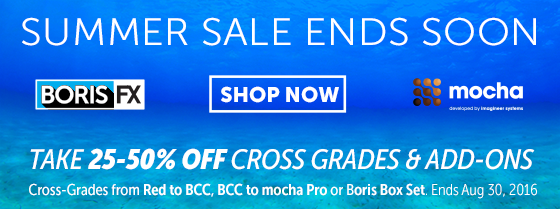 Last Chance! Boris FX Crossgrade Sale Ends Soon