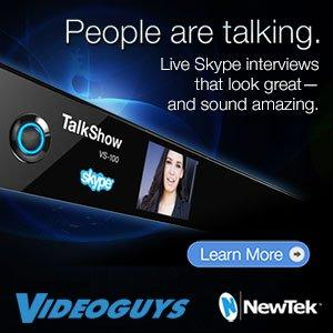 $1,000 off NewTek TalkShow Solution for Live Skype Interviews
