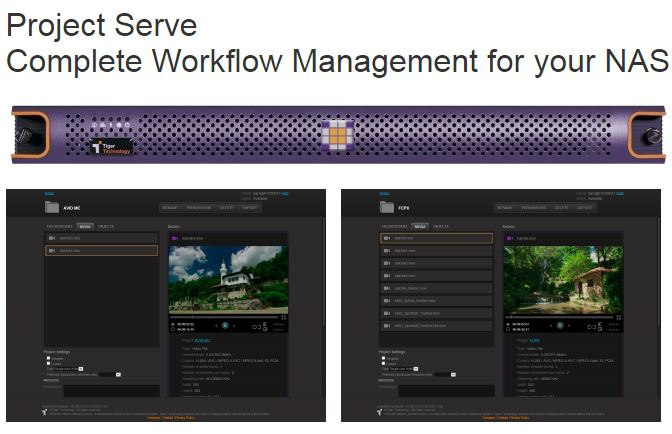 Project Serve a standalone workflow manager unveiled by Tiger Technology