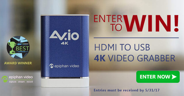 Win an Epiphan AV.io 4K Video Grabber!