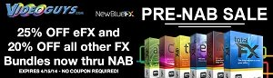 Up to 25% Off NewBlue FX Bundles