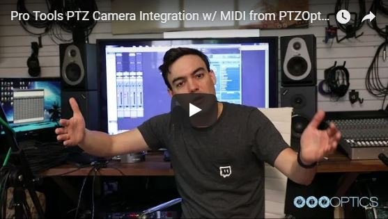 PTZOptics Demonstrates MIDI Control from ProTools
