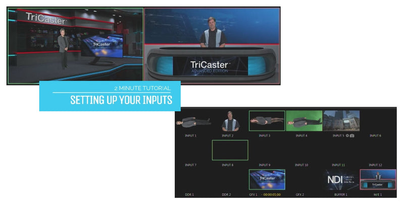 TriCaster 2-Minute Tutorial - Advanced Edition: How to Set Up Hardware Inputs