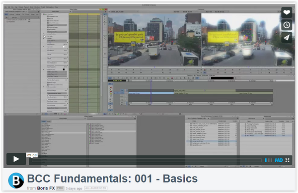 Watch & Learn Boris Continuum Complete Fundamentals