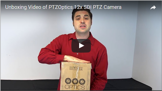 Stream Dudes: Unboxing Video of PTZOptics 12x-SDI PTZ Camera